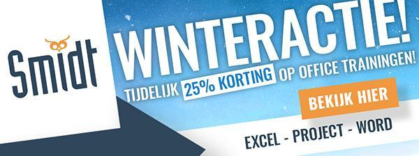 Smidt Winteractie 25% Korting